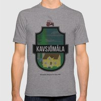 kvsjmla Mens Fitted Tee Athletic Grey SMALL