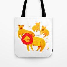 Lion Family Tote Bag