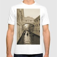 Bridge Of Sighs, Venice,… Mens Fitted Tee White SMALL