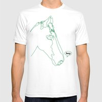 hey is for horses Mens Fitted Tee White SMALL
