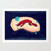 :::Space Fox::: Art Print