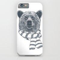 Winter Bear Drawing iPhone 6 Slim Case
