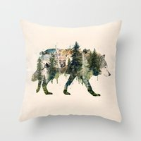 Wolf is the Pride of Nature Throw Pillow