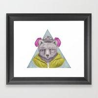Heisenbear Framed Art Print