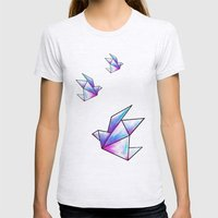 Origami Pastels Womens Fitted Tee Ash Grey SMALL