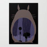 Rainy Day (totoro) Canvas Print