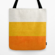 three stripes - candy corn Tote Bag