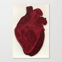 Paper Filigree Human Hea… Canvas Print