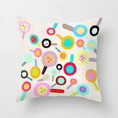 Cute Floral Paris Snowing Throw Pillow