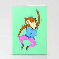 The Swimming Bear Stationery Cards