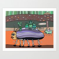 Curious Creatures 6 Art Print