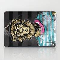 Hipster Lion on Black iPad Case