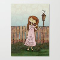 Lucy Plays a Song of a New Birth Canvas Print
