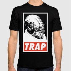 Obey Ackbar's TRAP Black Mens Fitted Tee SMALL
