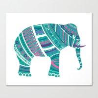 Indian Elephant No.2 Canvas Print