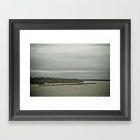 Barge Traffic Framed Art Print