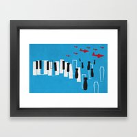 Drone Piano Framed Art Print