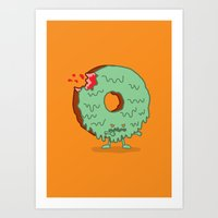 The Zombie Donut Art Print