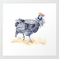 Guineafowl Art Print