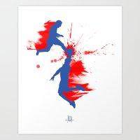Soccer & Basketball Art Print
