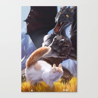 Startled Canvas Print