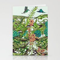 green Stationery Cards featuring Daydreamer by Huebucket