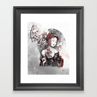 Under The Flowers Framed Art Print