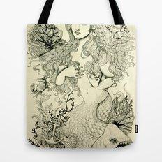 Inverted Mermaid Tote Bag