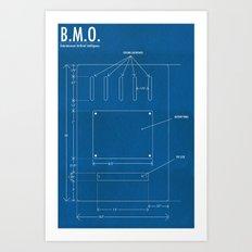 B.M.O. Entertainment Artificial Intelligence (Back) Art Print