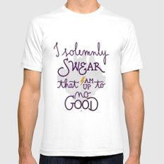I am up to no good Mens Fitted Tee White SMALL