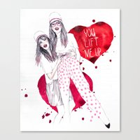 High, Valentine :-) Canvas Print