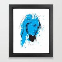 Black, blue & white II Framed Art Print