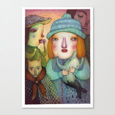 She Just Doesn't Care Canvas Print