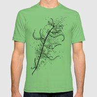 Abstract Art Unique Trending Bird Feather Sea Life Ocean Shells Sand Octopus  Mens Fitted Tee Grass SMALL