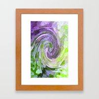 Abstract Waves Watercolo… Framed Art Print