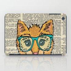 Orange Kitty Cat iPad Case