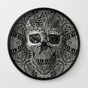 Lace Skull Wall Clock