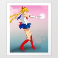 Pretty Soldier Sailor Mo… Art Print