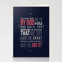 Living is about God Stationery Cards