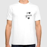 I Heart Your Heart Mens Fitted Tee White SMALL