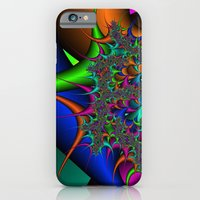 iPhone & iPod Case featuring Rainbow Thorns fractal by Christy Leigh