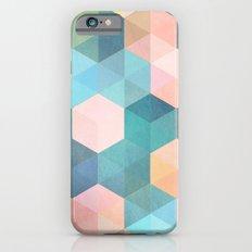 Child's Play 2 - hexagon pattern in soft blue, pink, peach & aqua iPhone 6s Slim Case