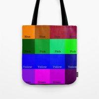 Blue, Pink, Yellow, Gree… Tote Bag