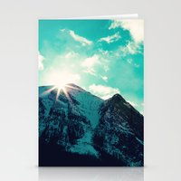 Mountain Starburst Stationery Cards