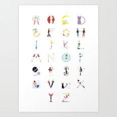 Sailor Moon A-Z Art Print