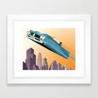 Dude, Where's My Flying … Framed Art Print