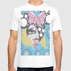 Candy Flip SMALL White Mens Fitted Tee