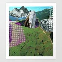 Experiment Am Berg 9 Art Print