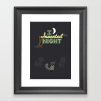 I Invented The Night Framed Art Print