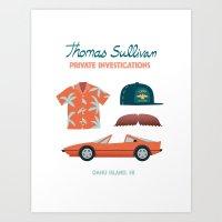 Thomas The Hawaiian PI 0… Art Print
